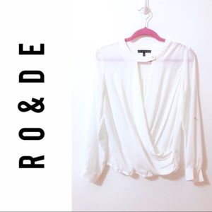 Ro&De White Blouse